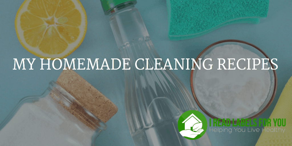 My homemade cleaning recipes i read labels for you - Home made cleaning products ...