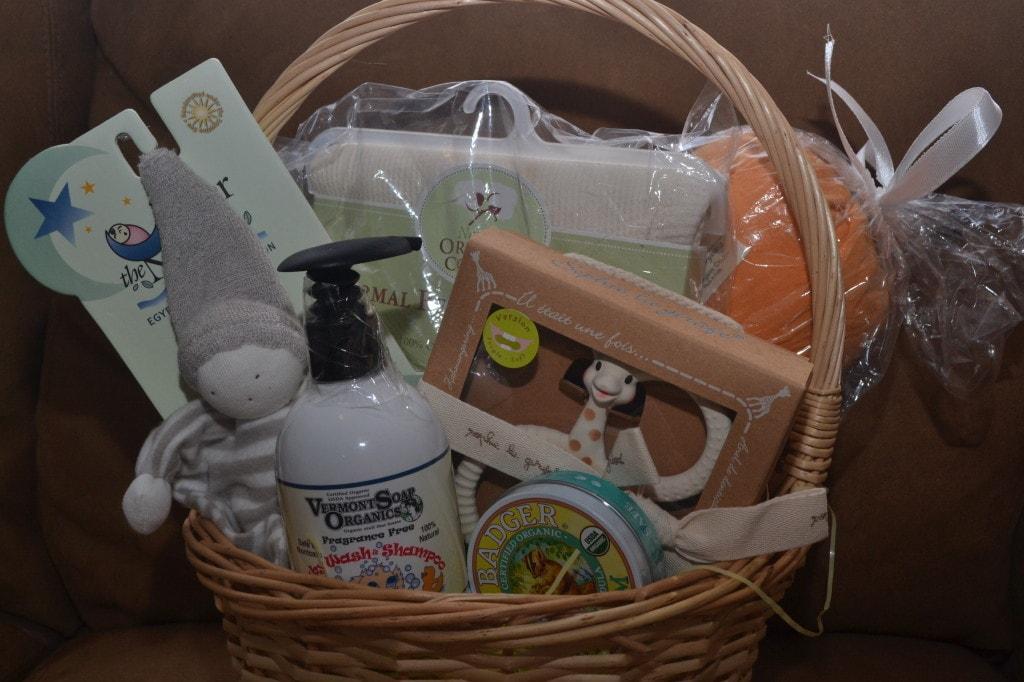 newborn baby organic gift basket