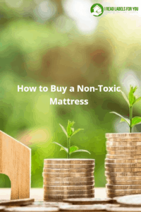 How to buy a non-toxic mattress for you. A picture of three stacks of coins and three stems of grass growing out of them.