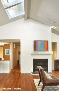 North facing skylights provide natural light for the great room below. (Christie Tyreus Design Studio)