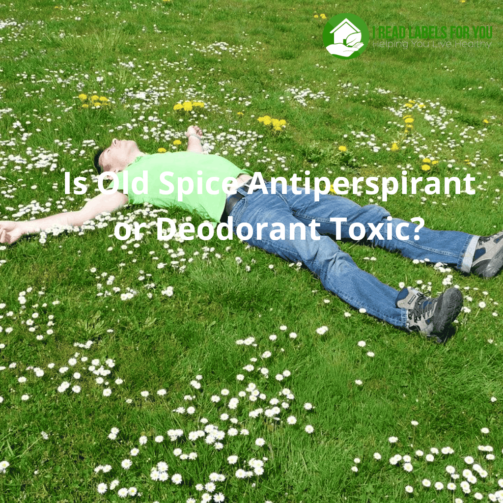 Is Old Spice Antiperspirant or Deodorant Toxic? A photo of a man lying on the grass on his back in a resting pose.