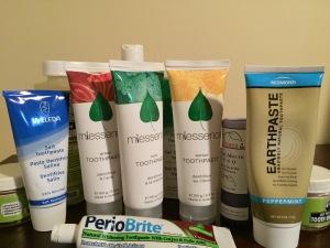 Fluoride-Free Toothpastes