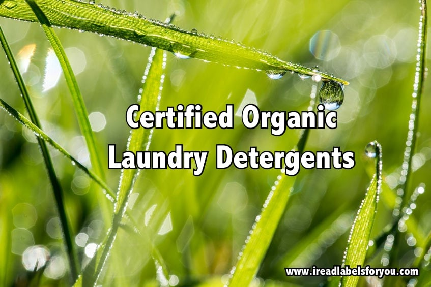 Certified Organic Laundry Detergents