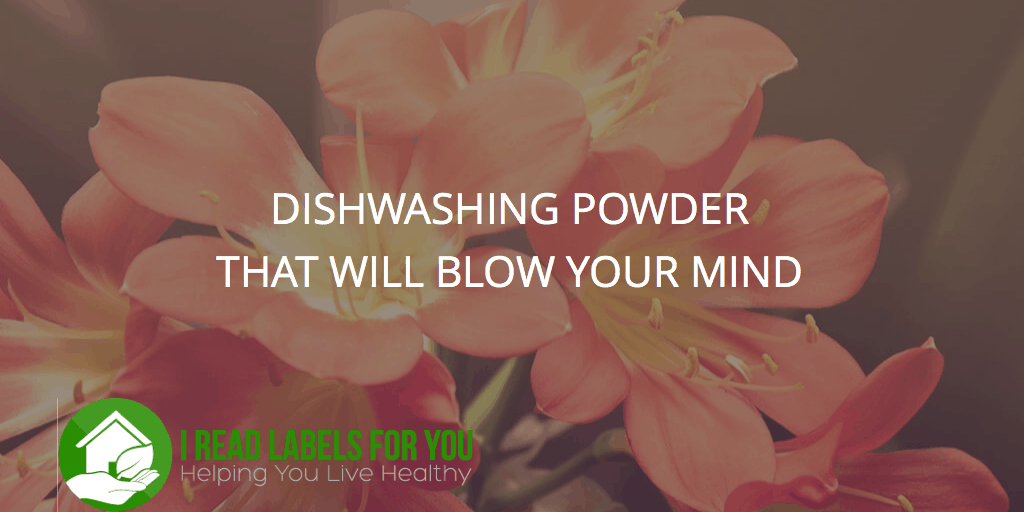 Dishwashing powder that will shock