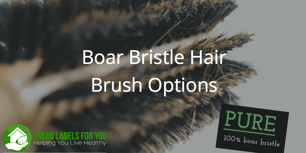 Boar Bristle Hair Brush Options