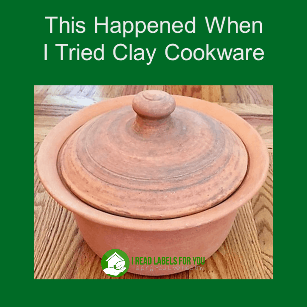 Clay Cookware I tried and this happened. A photo of an unglazed clay cooking pot.