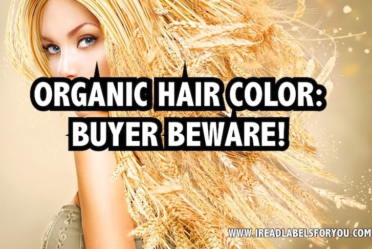 organic hair color buyer beware