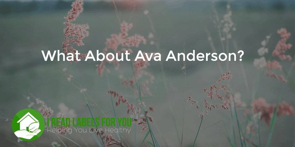 WHAT ABOUT AVA ANDERSON? transparency as consumers