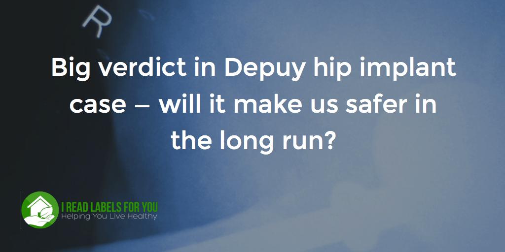Big verdict in Depuy hip implant case