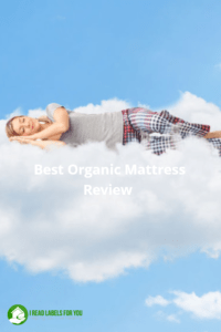 Best Organic Mattress revealed. A woman sleeping on a cloud.
