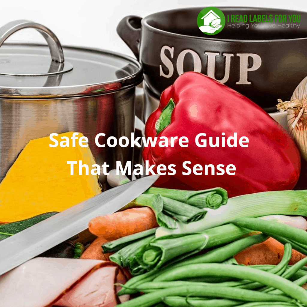 Safe Cookware Guide That Makes Sense to you. A photo of a stainless steel pan, a knife, and vegetables.