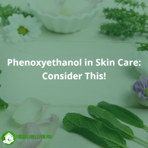 Phenoxyethanol in Skin Care. A picture of daisies and green leaves.