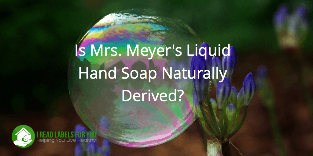 natural Soap mrs meyers clean day liquid hand soap