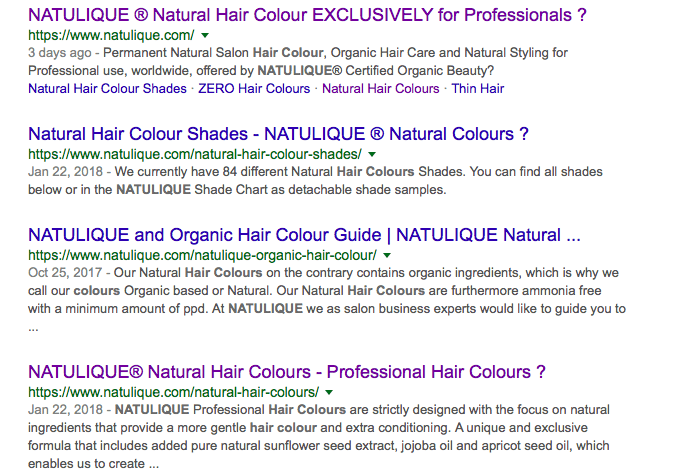 Natulique hair color ingredients review