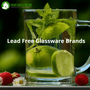 Lead Free Glassware Brands. A photo of a glass mug with slices of lime in it and strawberries around it.