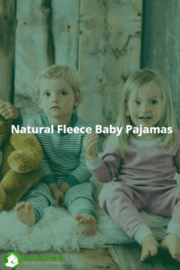 Natural Fleece Baby Pajamas. Two kids wearing Castleware natural baby pajamas.