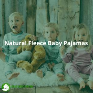 Natural Fleece Baby Pajamas_Revealed. Three kids in natural pajamas.