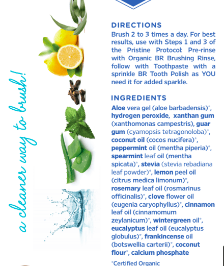 Certified Organic Toothpaste Ingredients