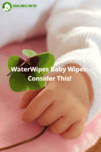 WaterWipes Baby Wipes: Consider This! A photo of a baby's hand with a green flower in it.