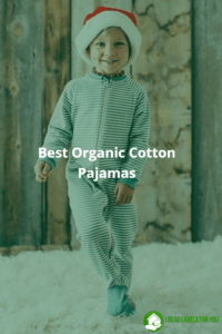 Best Organic Cotton Pajamas. A photo of a smiling boy wearing organic cotton pajamas.