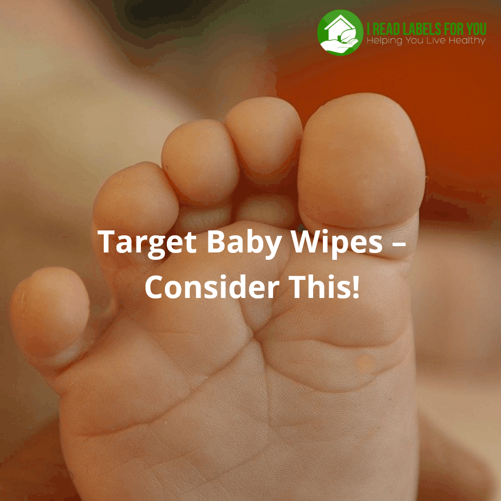 Target Baby Wipes. A photo of a baby's foot.