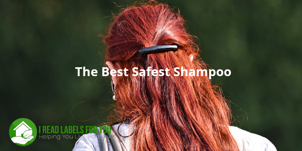 The best safest shampoo for you. A photo of a girl with shiny red hair.
