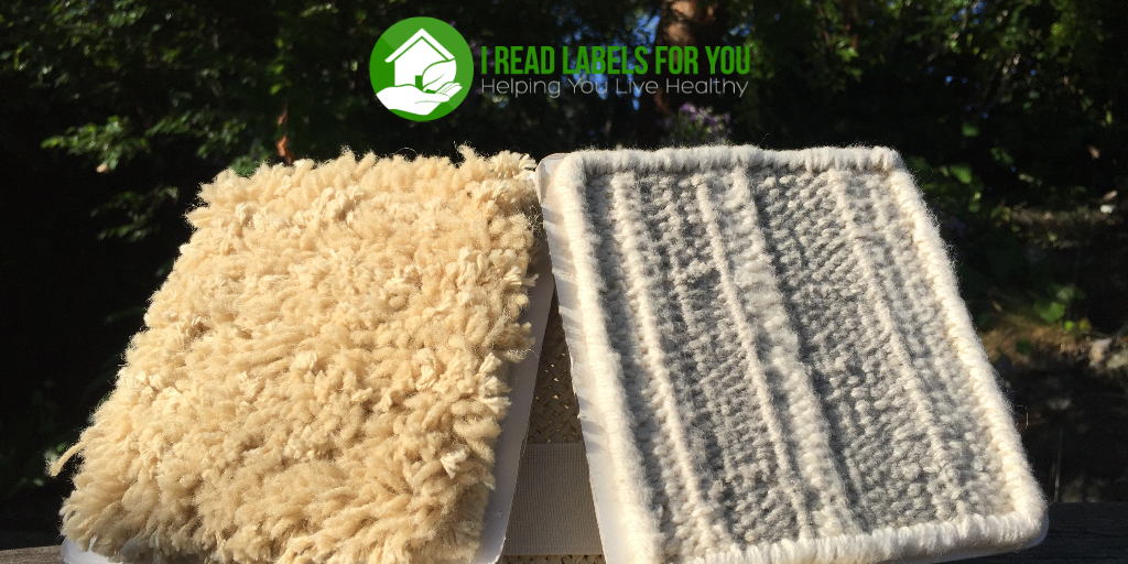 Organic Weave Non-Toxic Rugs & Carpeting Samples. The photo of two organic weave non-toxic rugs next to each other.