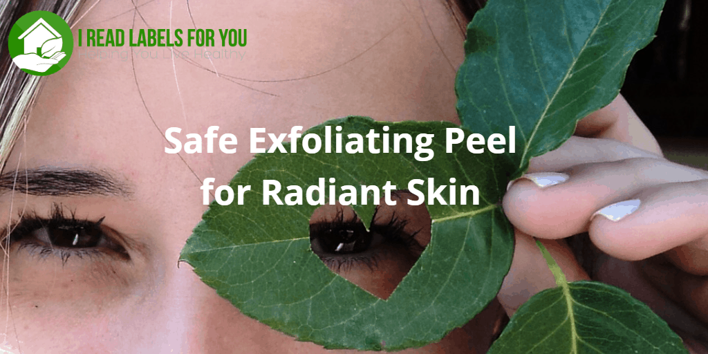 Safe Exfoliating Peel for Radiant Skin. The photo of a girl looking through a hole in a green leaf.