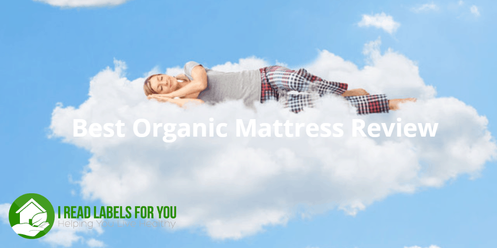 Best Organic Mattress Review. A woman sleeping on a cloud.