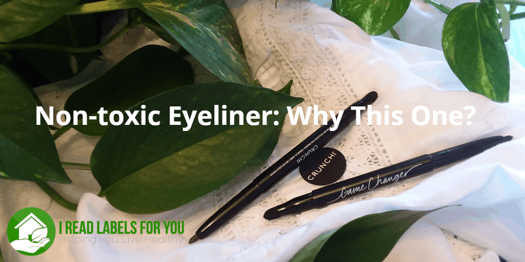 Non-toxic Eyeliner Why This One. A photo of two Crunchi eyeliners.